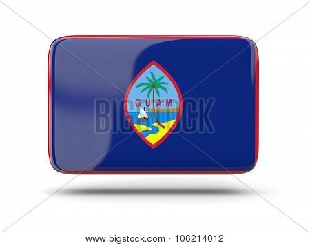 Square Icon With Flag Of Guam