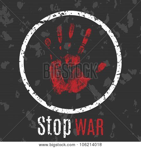 inscription Stop war