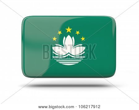Square Icon With Flag Of Macao