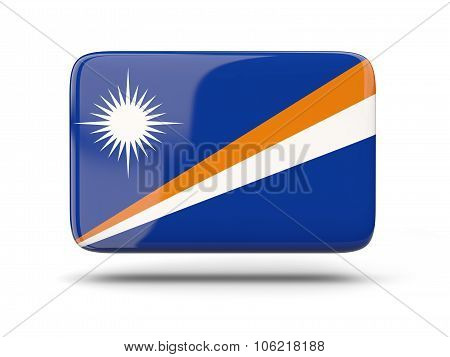 Square Icon With Flag Of Marshall Islands