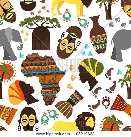 Africa seamless pattern