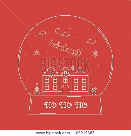 Christmas Snowglobe Card