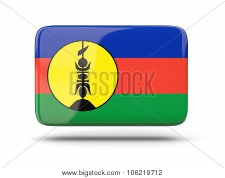 Square Icon With Flag Of New Caledonia
