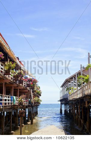 Pier With Restaurants