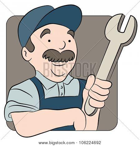 An image of a repairman cartoon.