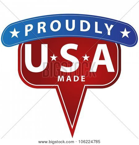 An image of a proudly made in USA icon.