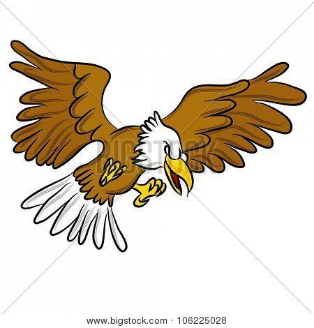 An image of an angry eagle cartoon.
