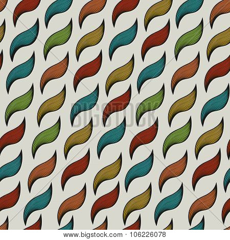 Seamless pattern with ringlets.