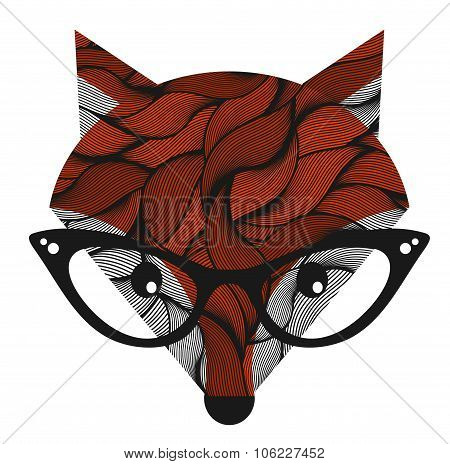 Fox. Vector illustration.