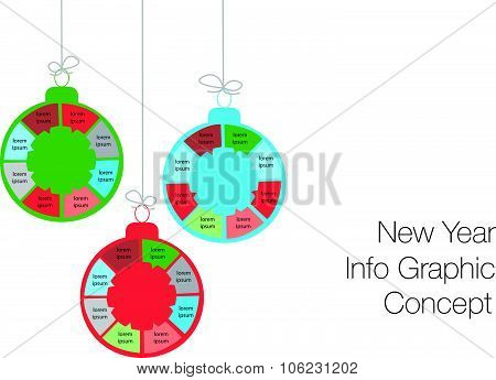 New Year And Christmas Modern Business Steps To Success Charts And Graphs Options Banner