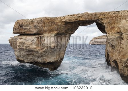 Window Azure On Mediterranean Sea On  Malta In Windy Conditions, Europe
