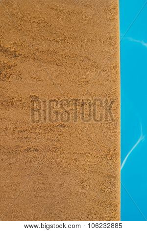 Swimming Pool,poolside And Sandstone Ideal For Backgrounds
