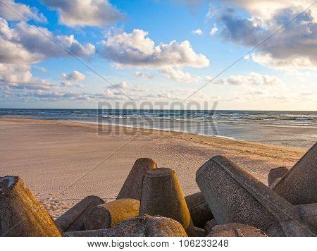 Beautiful Baltic sea landscape