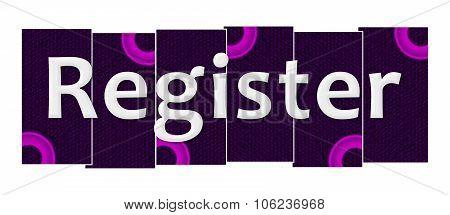 Register Purple Pink Stripes Rings