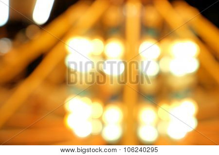 Amusement park unfocused lights