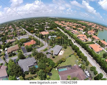 Aerial View Of Miami Homes