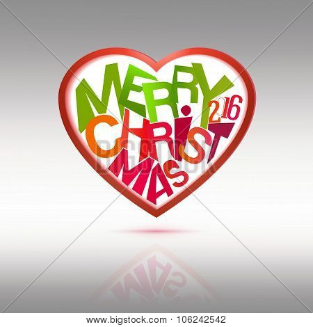 Merry Christmas Heart label
