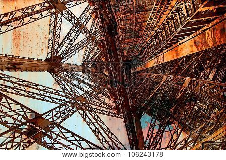 Rusty Background  With Eiffel Tower 12