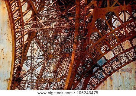 Rusty Background  With Eiffel Tower 11
