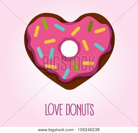Donut in heart shape