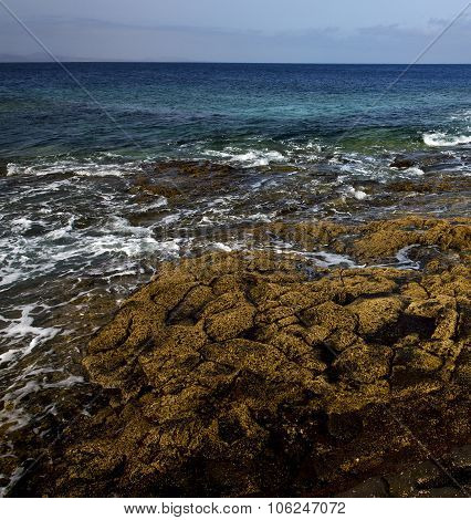 Rock Stone Sky Cloud Beach  Water  Lanzarote Spain