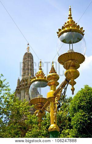 Street Lamp Bangkok Thailand  In The   Sunny Day
