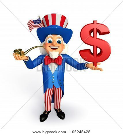 Uncle Sam With Dollar Sign