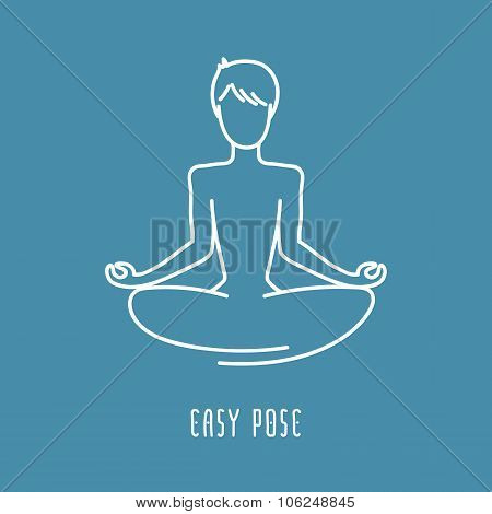 Yoga Pose Line Icon