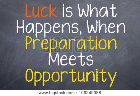 Luck is What Happens...