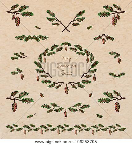 Pine Tree Decorative Elements