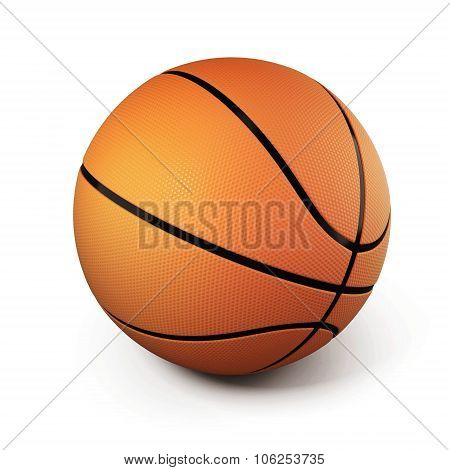 Basketball Isolated On White Background. 3D.