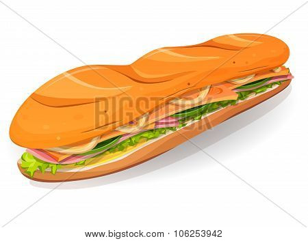 Classic Ham And Butter French Sandwich Icon