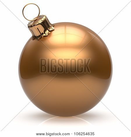 New Year's Eve Christmas ball bauble wintertime decoration golden