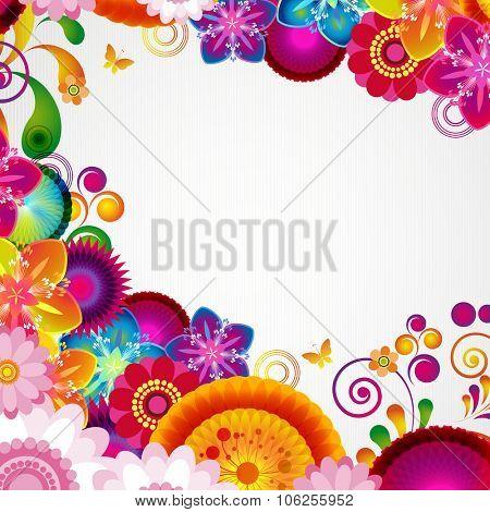 Gift festive floral design background.