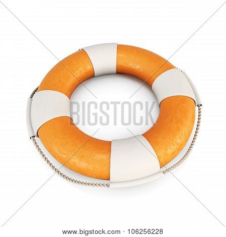 Life Buoy On A White. 3D