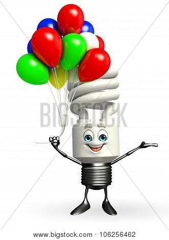 Cfl Character With Balloon