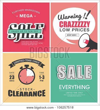 Set of sale poster design