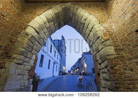 Opatowska Gate And Church Of The Holy Spirit - Sandomierz, Swietokrzyskie, Poland