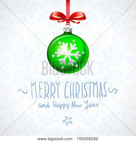 Merry Christmas, And Happy New Year Card