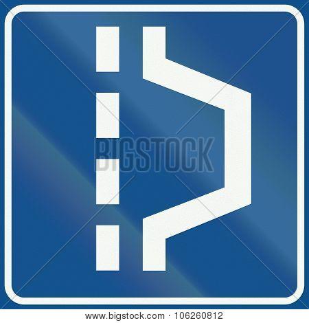 Netherlands Road Sign L14 - Hard Shoulder