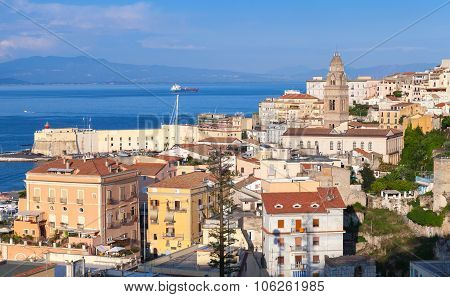 Cityscape Of Gaeta Town In Summertime, Italy