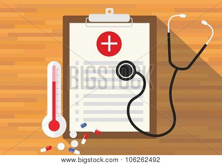 medical record health in clipboard