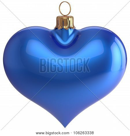 Heart Shape Christmas Ball New Year's Eve Love Bauble Blue