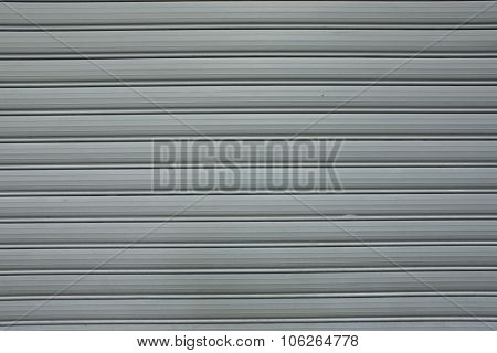 Corrugated Metal Door Painted Surface Texture Background. Grunge Textures Backgrounds. Old Cracked W