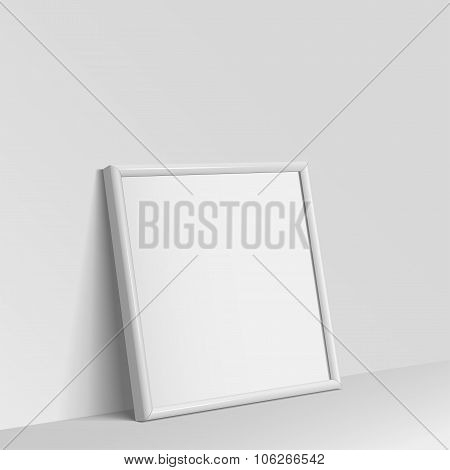 Realistic White Square Shape Frame For Paintings