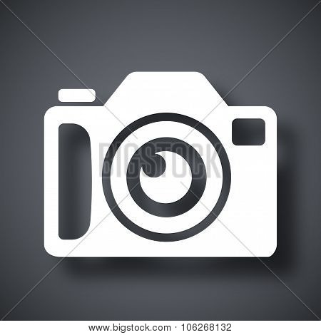 Photo Camera Icon, Stock Vector
