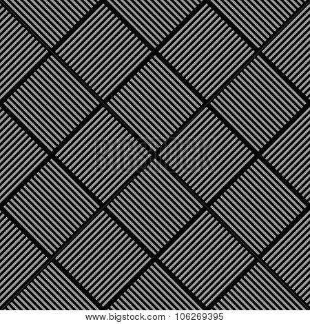 Seamless diagonal checked texture. Pattern of striped checks. Vector illustration.