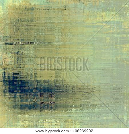 Vintage texture with space for text or image, grunge background. With different color patterns: yellow (beige); gray; blue; cyan