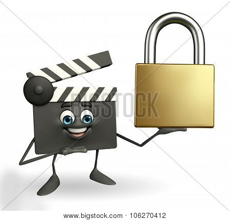 Clapper Board Character With Lock
