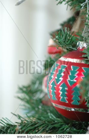 Red Christmas Ball Ornament With Open Space